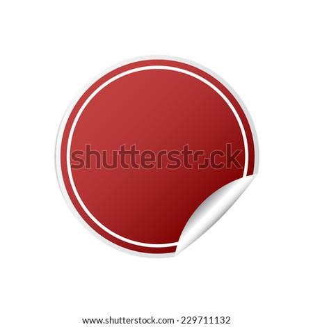 Red sticker vector illustration - stock vector
