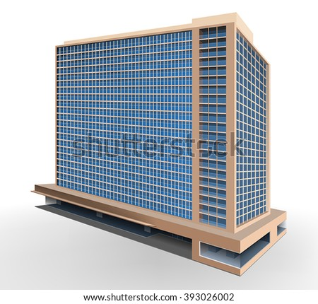 residential building vector design on a white background
