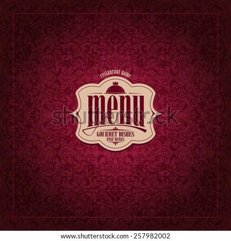 Restaurant Menu Design Vintage card  - stock vector