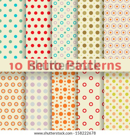 Vector polka dot retro old paper background ? Stock Vector ...
