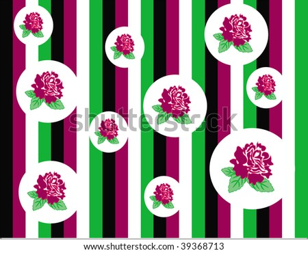 Roses seamless pattern - stock vector