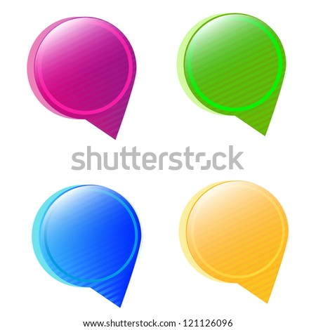 Round bubbles for speech.Vector set - stock vector