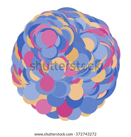 Round colorful vector shape. Abstract vector banner. Design element.