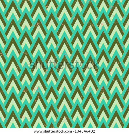1930s geometric art deco pattern in faded green & grey colors, seamless vector background. Texture for print, textile, wallpaper, vintage decor, website background. Concept of history, heritage - stock vector