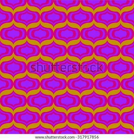 60s psychedelic pattern - stock vector