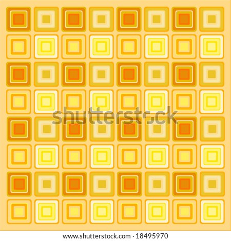70s retro pattern background wallpaper - stock vector