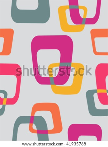 50s retro style seamless pattern - stock vector