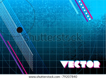 80s style dynamic vector design background for use in layouts and presentations - stock vector