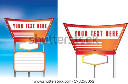 1950s style of advertising isolated on a white background, vector available - stock vector