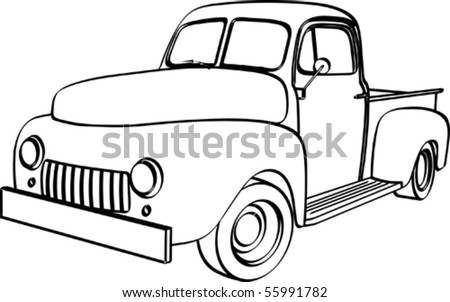 1960 Ford Wiring Diagrams together with Painless Wiring For Cars in addition Old pickup truck additionally Ford Clipart For Vinyl Cutters likewise 1948 Cadillac Wiring Diagram. on 1954 ford truck