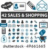 42 sales & shopping signs. vector - stock vector