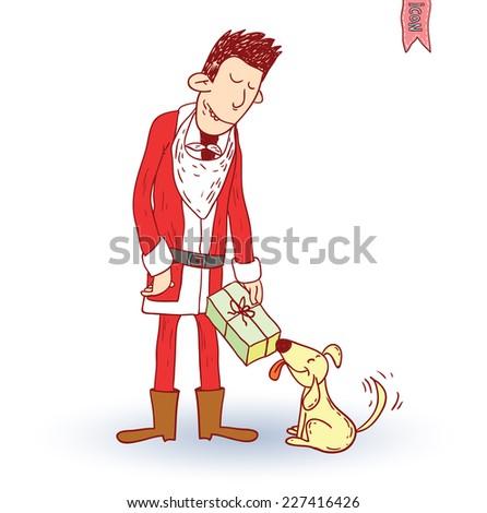 Santa Claus. vector illustration. - stock vector