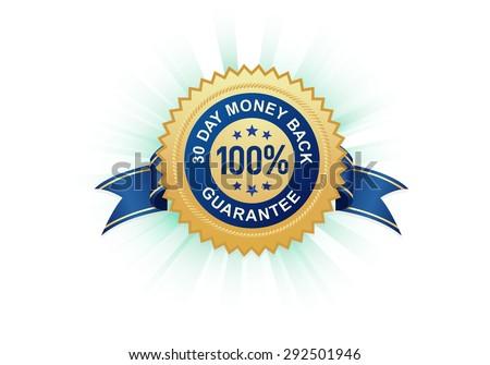 100% Satisfaction Guarantee Stamp - stock vector