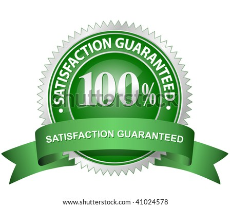 100% Satisfaction Guaranteed Sign - stock vector