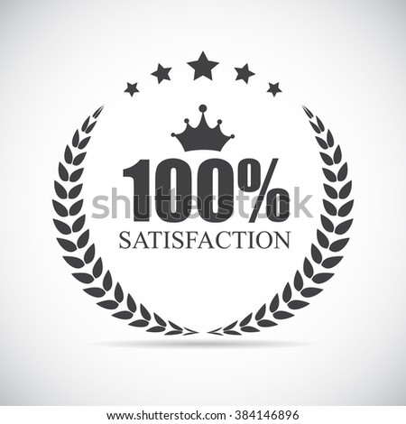 100 % Satisfaction Label Vector Illustration Eps10