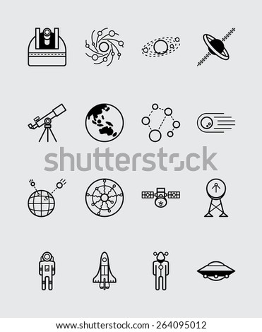 16 Science icons black