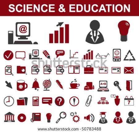 50 Science Symbols (Vector) - stock vector