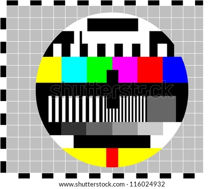screen in case of no signal., background - stock vector