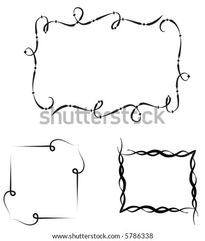 se of 3 decorative  frames -borders,vector - stock vector
