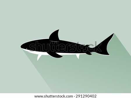 Sea background, black fish