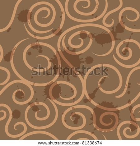Seamless coffee background - stock vector