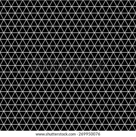 Seamless geometric latticed texture. Hexagons, diamonds and triangles pattern. Vector art. - stock vector