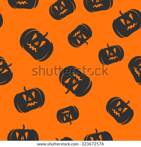 Seamless halloween pattern background pumpkin