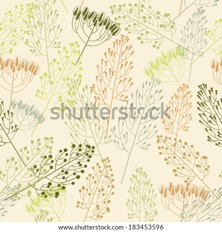 Seamless pattern with grass - stock vector