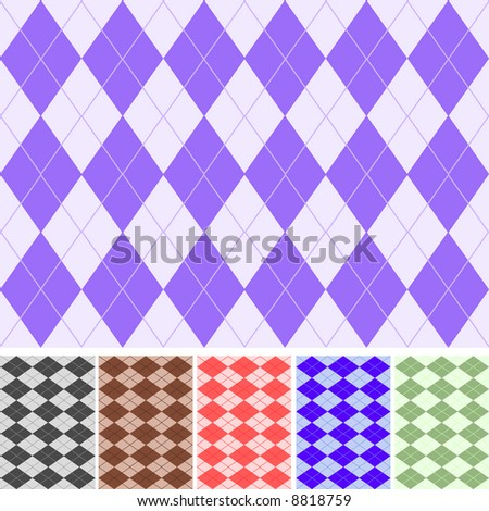 6 seamless plaids,vector pattern - stock vector