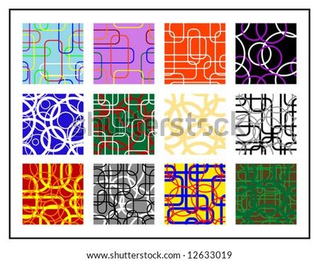 12 seamless textures - stock vector