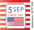 5 September labor day - stock vector
