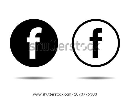 Set for letter F. Flat web icon or sign isolated on white background.
