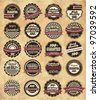 20 set High Quality Labels whit vintage design - stock vector