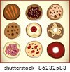set of different cookies, illustration - stock photo