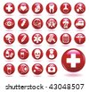 Set of medical icons. - stock photo