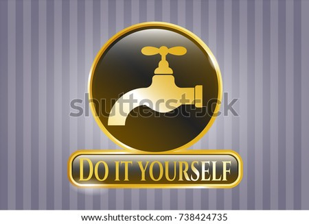Shiny badge tap icon do yourself stock vector 738424735 shutterstock shiny badge with tap icon and do it yourself text inside solutioingenieria Image collections