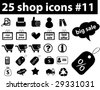 25 shop icons.vector - stock vector