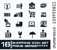 16 Shopping icon set,Prime series ,vector - stock vector