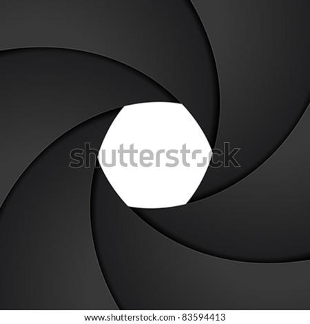 Shutter aperture - stock vector