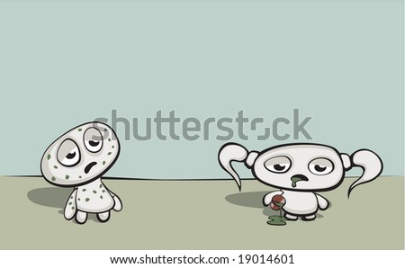 Sickness and in health - stock vector