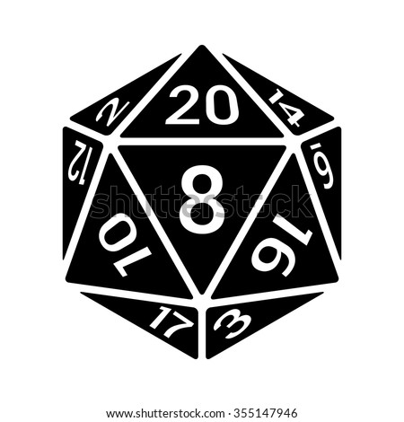 9 sided dice template with dots vector