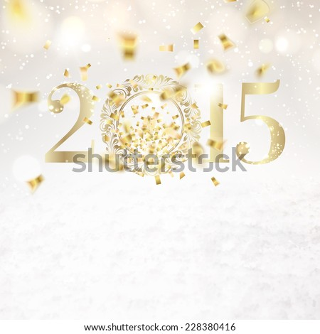 2015 sign over white background. Vector illustration. - stock vector