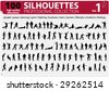 100 Silhouettes Professional Collection Vol. 1 - stock photo