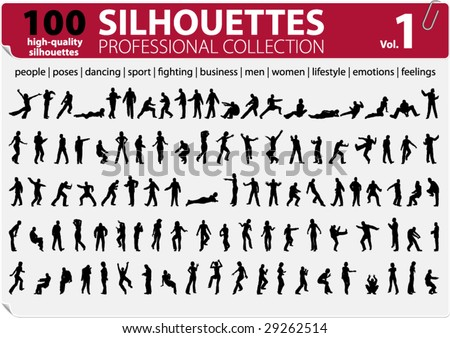 100 Silhouettes Professional Collection Vol. 1 - stock vector