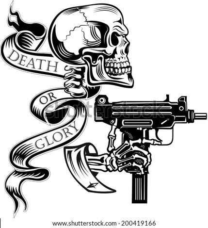 stock vector skeleton with guns 200419166 2003 1300 suzuki hayabusa wiring diagram pictures to pin on,Hayabusa Undertail Wiring Diagram