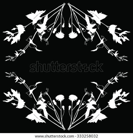 Sketchy Hand Drawn Floral Vintage Frame Stock Vector 333258032 ...