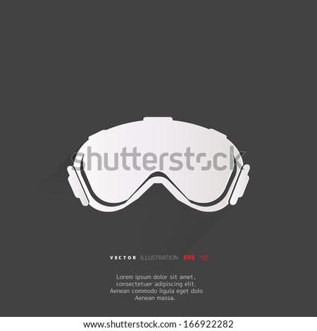 Ski Goggles Vector Ski Goggles Icon