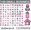 100 small business icons set, vector - stock vector
