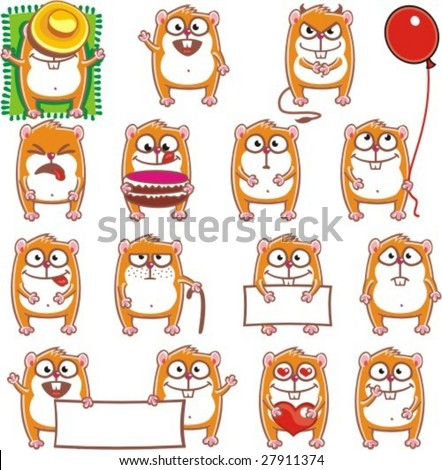 15 smiley hamsters individually grouped for easy copy-n-paste.(1)