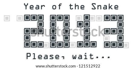 2013 Snake year design. Vector on illustration - stock vector